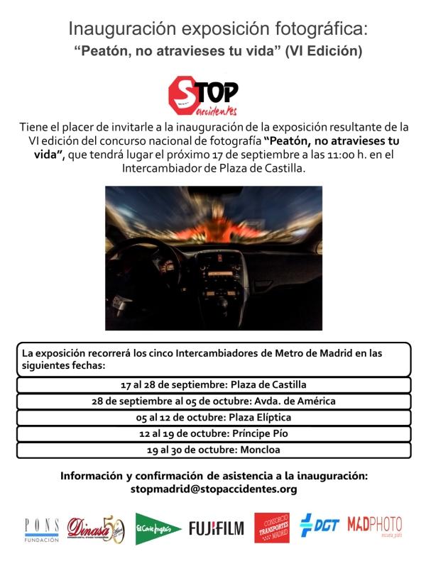 Invitación Inauguración Stop Accidentes 2015