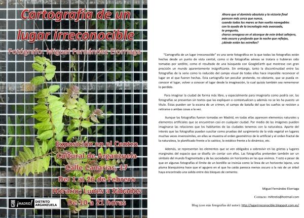 Panfleto de la exposición MFE